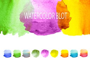 watercolor painted blot
