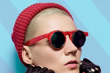 Model. Stylish accessories seasons
