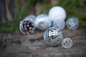 Silver Christmas composition