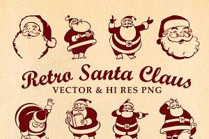 Retro Vintage Santa Claus Vector