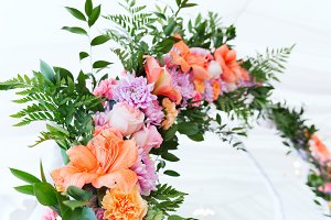 Fresh aroma wedding flower arc