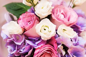 Flowers roses blooming bouquet