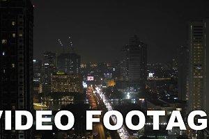 Night panorama of Bangkok city