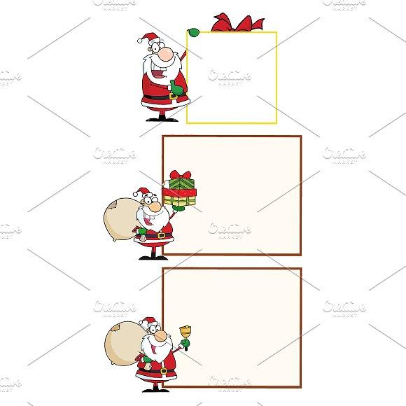 Happy Santa Claus. Collection - Illustrations