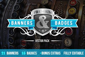 Banners & Badges Vector Pack