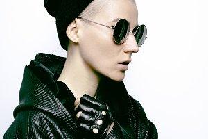 Black style autumn winter fashion