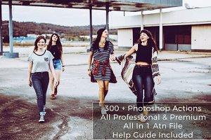 300+ Premium Photoshop Actions