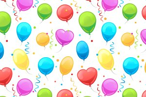 Party balloon seamless pattern