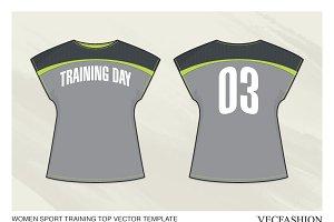 Women Sport Training Top Vector