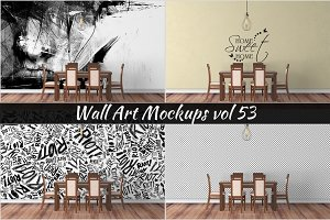 Wall Mockup - Sticker Mockup Vol 53