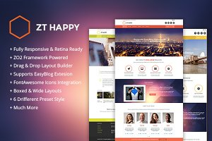 ZT Happy responsive joomla theme