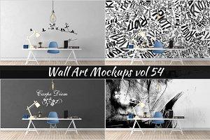 Wall Mockup - Sticker Mockup Vol 54