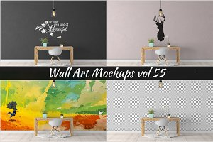 Wall Mockup - Sticker Mockup Vol 55