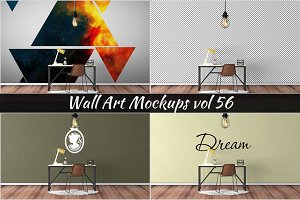 Wall Mockup - Sticker Mockup Vol 56