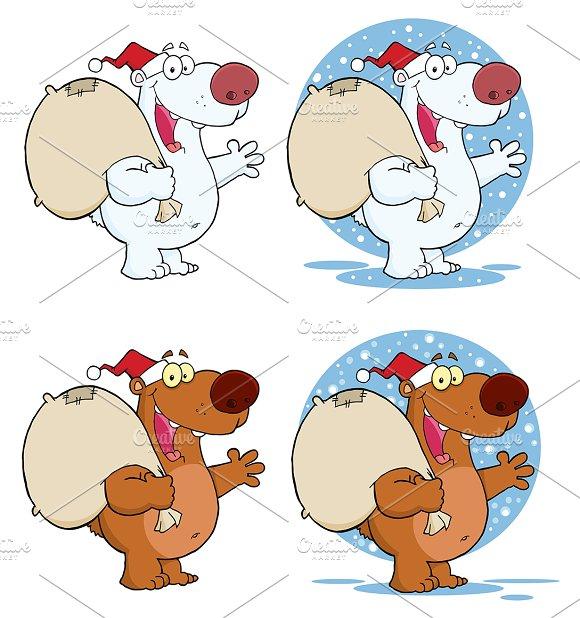 Santa Bear. Collection - Illustrations