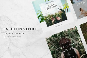 Fashion Store Social media pack