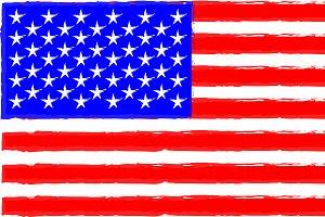 USA American flag vintage