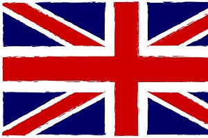 British flag old style vector