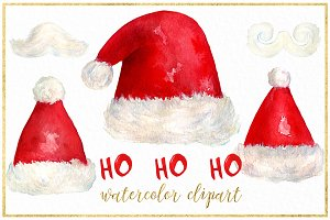 Santa. Christmas watercolor clipart