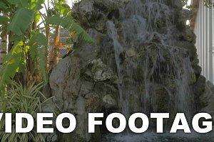 Decorative rocky waterfall