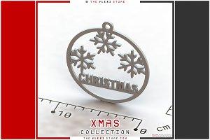 Triple Snowflake #1 Hanging Ornament