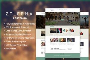 ZT Leena responsive portfolio theme