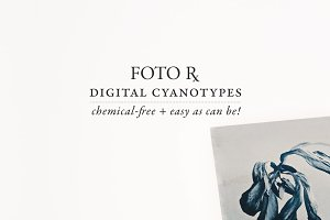 Digital Cyanotype Effect
