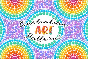 28 Australian ART seamless patterns