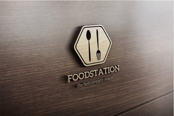 food station logo templates creative market
