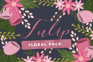 Tulip Floral Set Pngs