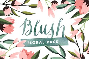 Blush - Painted Floral Graphics