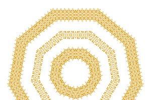 Gold tribal mandala
