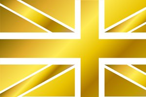 British flag gold, vector