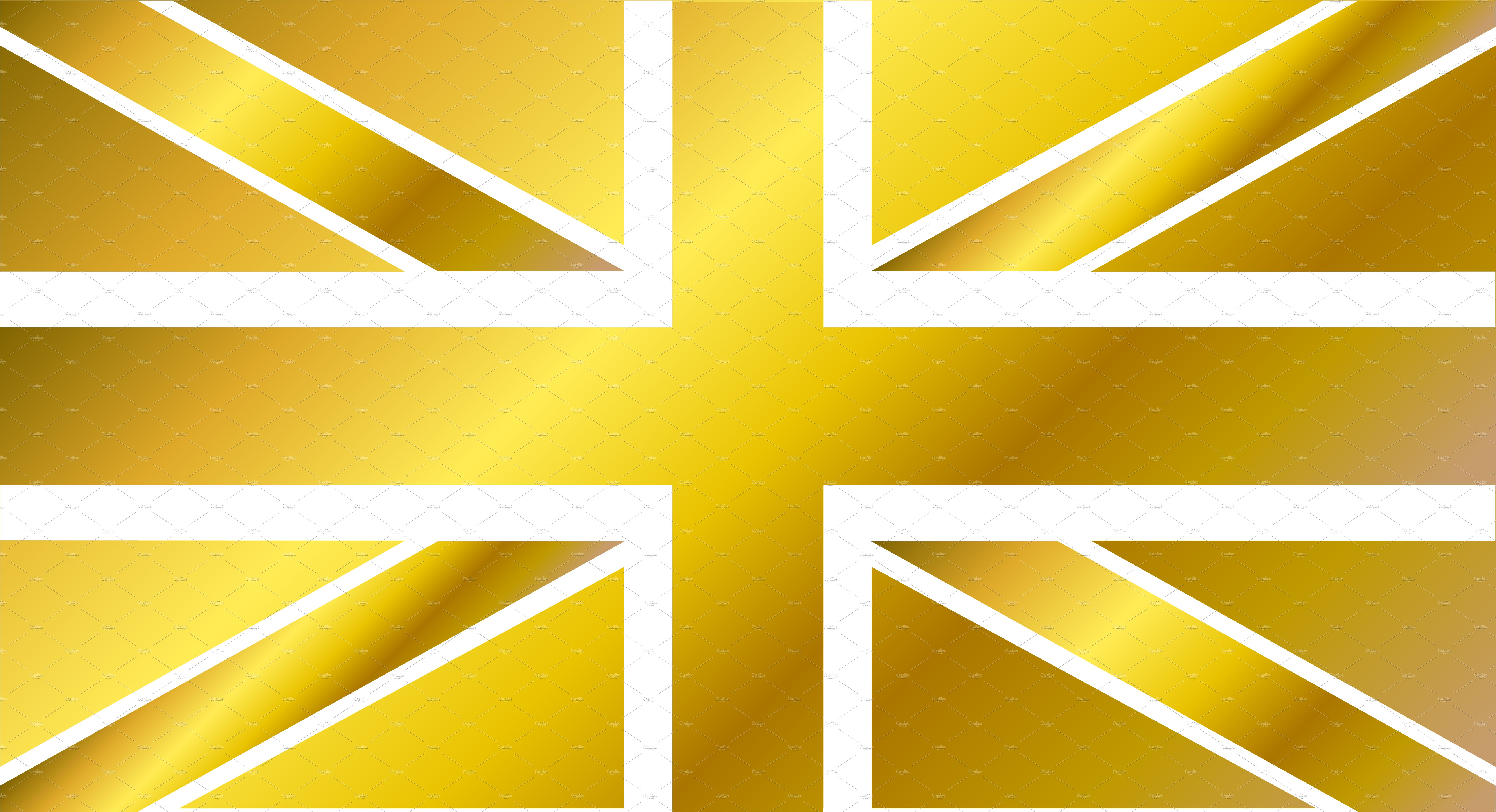 British flag gold, vector ~ Graphic Objects ~ Creative Market