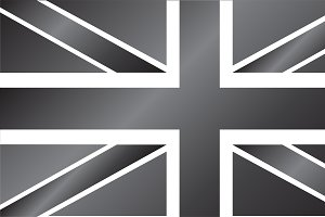 British flag silver, vector