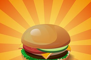 Colourful vector hamburger
