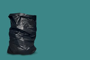 Garbage bag isolated with clipping