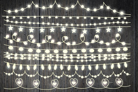 String Lights Clipart Best String Lights Clip Art Graphic Objects Creative Market