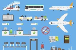 Plane airport symbols vector