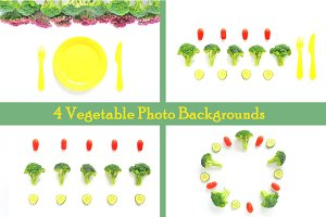 4 Vegetable Backgrounds