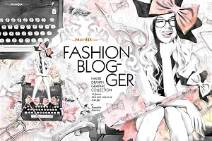 Fashion Blogger Clipart