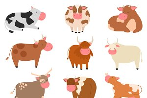 Milk cow bull vector