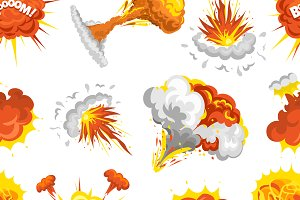 Bomb explosion pattern vector