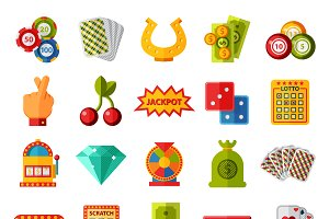 Casino game icons vector ser