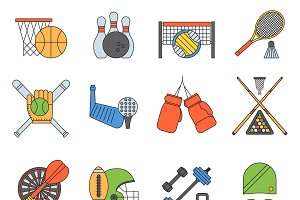 Vector set sport icons