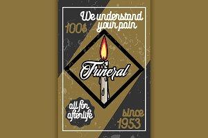 Color vintage funeral poster