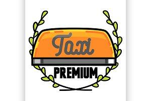 Color vintage taxi emblem