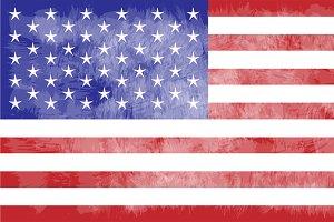 USA flag, American flag grunge