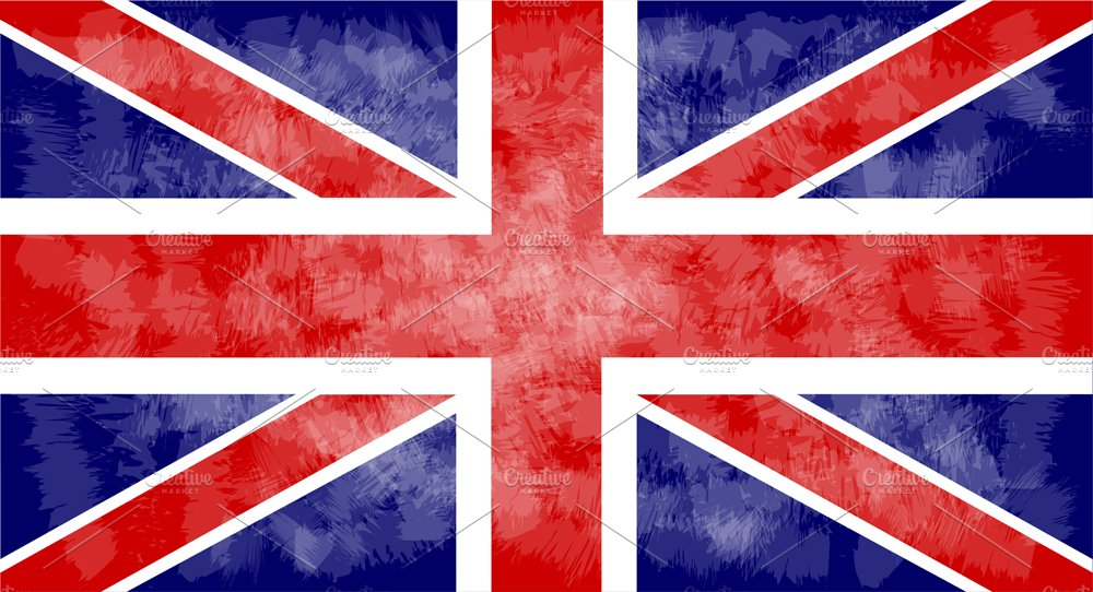 British flag grunge vector ~ Graphic Objects ~ Creative Market