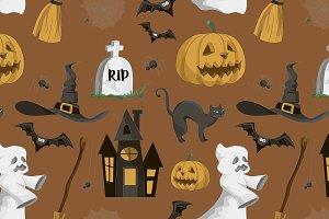 Halloween set pattern